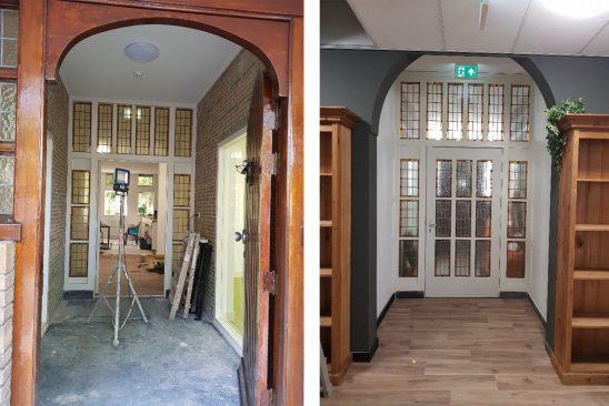 Gang glas in lood ramen - begane grond St. Josephhuis Heemskerk