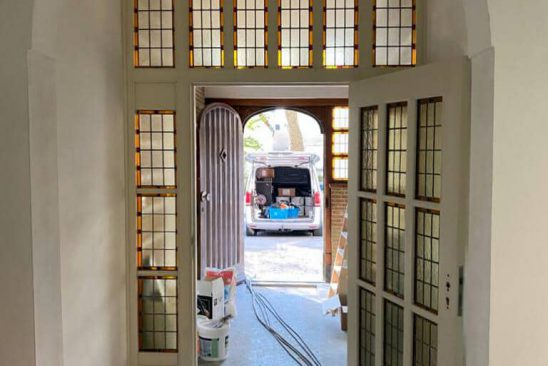 St. Joseph - Heemskerk - entree glas in lood